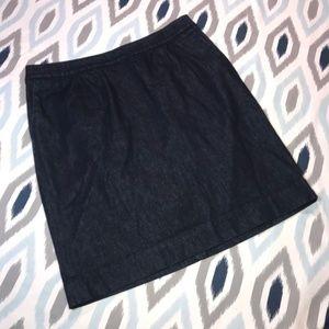 Boden Blue Jean Skirt w/ Pockets Size 12L Long